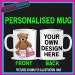 CUTE BEAR SHOPPING LOVE HANDBAGS GIRLIE LADIES MUG PERSONALISED 005